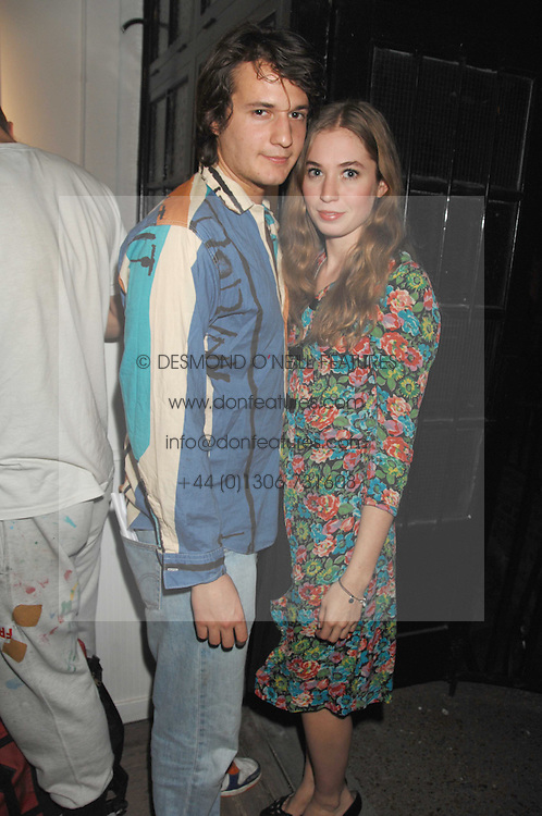 XAN MORGAN and ANOUSKA GERHAUSER daughter of Tamara Beckwith at a party to celebrate the opening of a new art gallery, 20 Hoxton Square, Hoxton Square, London on 27th April 2007.<br />