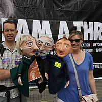 Anti-Theresa May demo outside the BBC,London,UK