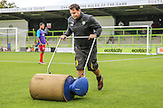 Forest Green Rovers groundsman Adam Witchell during the Vanarama National League match between Forest Green Rovers and Barrow at the New Lawn, Forest Green, United Kingdom on 1 October 2016. Photo by Shane Healey.