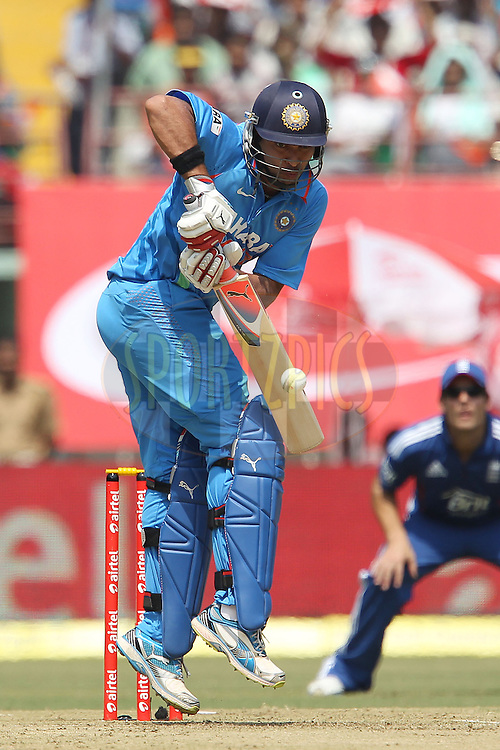 Yuvraj Singh of India during the 2nd Airtel ODI Match between India and England held at the Jawaharlal Nehru International stadium, Kochi, India on the 15th January 2013..Photo by Ron Gaunt/BCCI/SPORTZPICS ..Use of this image is subject to the terms and conditions as outlined by the BCCI. These terms can be found by following this link:..http://www.sportzpics.co.za/image/I0000SoRagM2cIEc