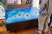 Map display Timanfaya Volcano Interpretation and Visitor Centre, Lanzarote, Canary Islands, Spain