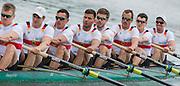 Poznan. Poland. Men's Eights: GER M8+. Crew: Bow: Maximillian MUNSKI, Malte JAKSCHIK, Maximillian REINELT, Eric JOHANNESEN, Anto BRAUN, Felix DRAHHOTTA, Richard SCHMIDT, Hannes OCIK and cox: Martin SAUER,, at the start of their heat at the FISA 2015 European Rowing Championships. Venue Lake Malta. 29.05.2015. [Mandatory Credit: Peter Spurrier/Intersport-images.com] .   Empacher.