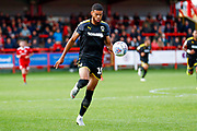 Wimbledon forward Jake Jervis (10), on loan from Luton Town, in action during the EFL Sky Bet League 1 match between Accrington Stanley and AFC Wimbledon at the Fraser Eagle Stadium, Accrington, England on 22 September 2018.