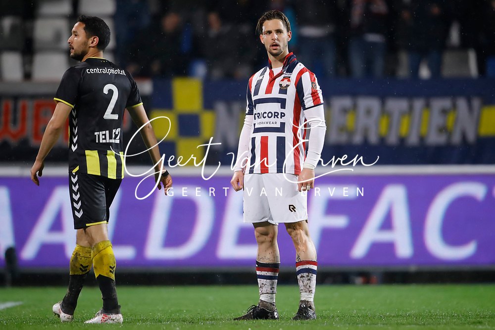 *Fran Sol* of Willem II celebrates 3-2