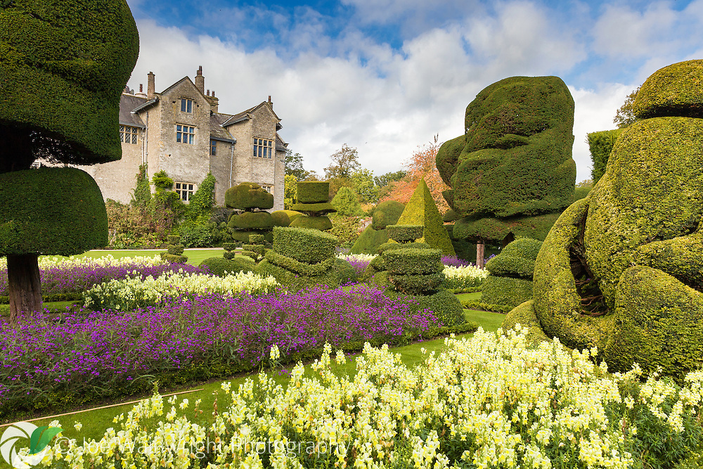 Levens Hall originated at a Pele Tower, a structure built to defend agaist Scots raiders. However most of the building dates from Elizabethan times.  the surrounding topiary garden was created in 1694.