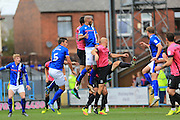GOAL Calvin Andrew scores for Rochdale 2-0nduring the EFL Sky Bet League 1 match between Rochdale and Southend United at Spotland, Rochdale, England on 8 October 2016. Photo by Daniel Youngs.