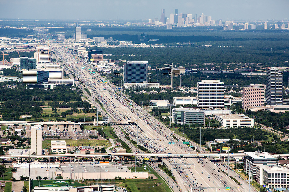 With 26 lanes, the Katy Freeway is the world's widest road. Home to  many energy-industry office buildings, it has been nicknamed the Energy Corridor.
