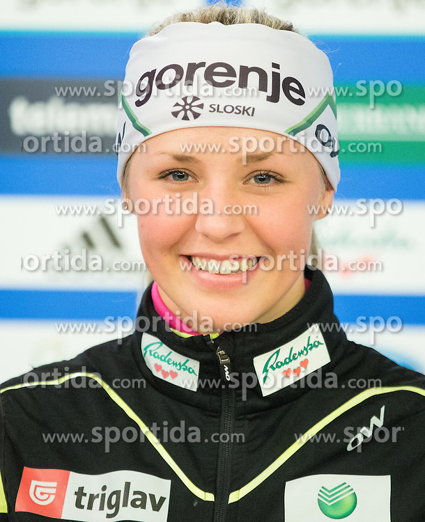 Ana Marija Lampic during official presentation of the outfits of the Slovenian Ski Teams before new season 2015/16, on October 6, 2015 in Kulinarika Jezersek, Sora, Slovenia. Photo by Vid Ponikvar / Sportida