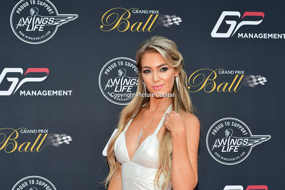 Cassandra attends the 2018 Grand Prix Ball held at The Hurlingham Club on July 4, 2018 in London, England.