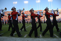 Marching band performs prior to the football against USC.