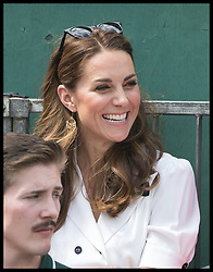 July 2, 2019 - London, London, United Kingdom - Image licensed to i-Images Picture Agency. 02/07/2019. London, United Kingdom. The Duchess of Cambridge watches the tennis on Court 14 on the second day of the Wimbledon Tennis Championships in London. (Credit Image: © Stephen Lock/i-Images via ZUMA Press)