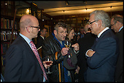 Book party for 'The Liar's Ball' by Vicky Ward hosted by  Sir Evelyn  de Rothschild at Henry Sotheran's, 2 Sackville Street London. 25 November 2014