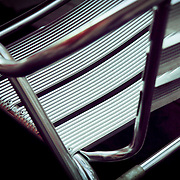 Cafe aluminium chair detail, Seville, Spain (January 2007)