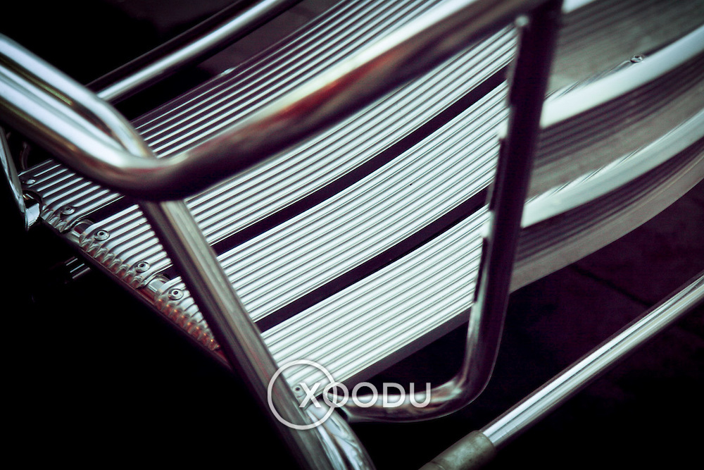 Cafe aluminium chair detail, Seville, Spain (January 2007)