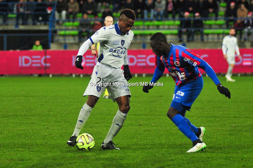 Francois Kamano - 20.12.2014 - Caen / Bastia - 17eme journee de Ligue 1 -<br />Photo : Philippe Le Brech / Icon Sport