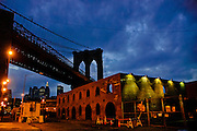The old tobacco warehouse next to the Brooklyn Bridge on Water street in DUMBO, Brooklyn, New York, 2008.