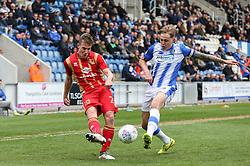 David Wheeler of Milton Keynes Dons crosses the ball - Mandatory by-line: Arron Gent/JMP - 27/04/2019 - FOOTBALL - JobServe Community Stadium - Colchester, England - Colchester United v Milton Keynes Dons - Sky Bet League Two