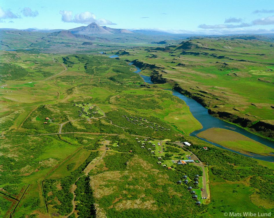 Múnaðarnes séð til norðurs, Norðurá. Borgarbyggð áður Stafholtstungnahreppur / .Munadarnes viewing north, Nordura river. Borgarbyggd former Stafholtstungnahreppur.