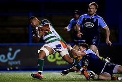 Guinness PRO14, Cardiff Arms Park, Cardiff, UK 23/02/2020<br /> Cardiff Blues vs Benetton Rugby<br /> Toa Halafihi of Benetton Rugby scores a try<br /> Mandatory Credit ©INPHO/Ryan Hiscott
