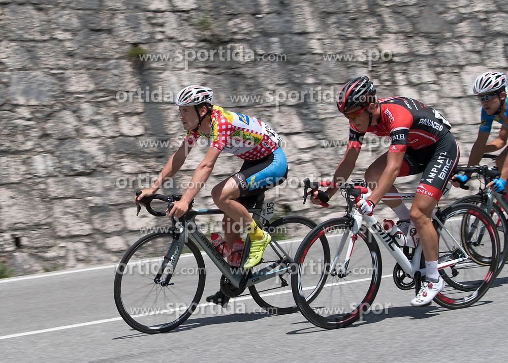 06.07.2017, Kitzbühel, AUT, Ö-Tour, Österreich Radrundfahrt 2017, 4. Etappe von Salzburg auf das Kitzbüheler Horn (82,7 km/BAK), im Bild Stephan Rabitsch (AUT, Team Felbermayr Simplon Wels) im Bergtrikot // Stephan Rabitsch of Austria (Team Felbermayr Simplon Wels) wearing the king of the mountains jersey during the 4th stage from Salzburg to the Kitzbueheler Horn (82,7 km/BAK) of 2017 Tour of Austria. Kitzbühel, Austria on 2017/07/06. EXPA Pictures © 2017, PhotoCredit: EXPA/ Reinhard Eisenbauer