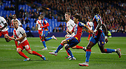 Chong Yong Lee with a chance during the Capital One Cup match between Crystal Palace and Charlton Athletic at Selhurst Park, London, England on 23 September 2015. Photo by Michael Hulf.