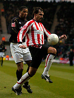 Photo: Alan Crowhurst.<br />Southampton v Milton Keynes Dons. The FA Cup.<br />07/01/2006. <br />Claus Lundekvam of Saints on the ball.