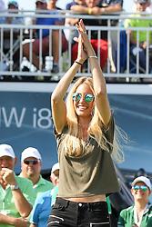 28.06.2015, Golfclub M&uuml;nchen Eichenried, Muenchen, GER, BMW International Golf Open, Tag 4, im Bild Freundin Gala Ortin von Pablo Larrazabal (ESP) // during te finals of BMW International Golf Open at the Golfclub M&uuml;nchen Eichenried in Muenchen, Germany on 2015/06/28. EXPA Pictures &copy; 2015, PhotoCredit: EXPA/ Eibner-Pressefoto/ Kolbert<br /> <br /> *****ATTENTION - OUT of GER*****