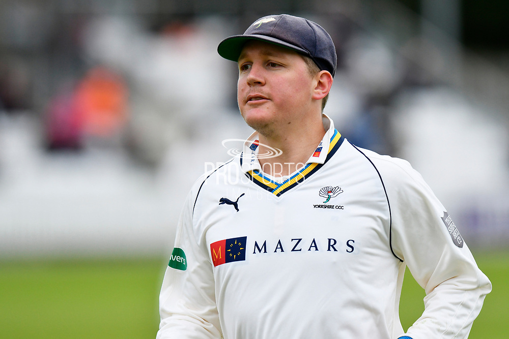 Gary Ballance of Yorkshire during the third day of the Specsavers County Champ Div 1 match between Somerset County Cricket Club and Yorkshire County Cricket Club at the Cooper Associates County Ground, Taunton, United Kingdom on 29 April 2018. Picture by Graham Hunt.