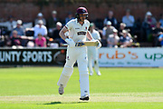Josh Davey of Somerset during the Specsavers County Champ Div 1 match between Somerset County Cricket Club and Worcestershire County Cricket Club at the Cooper Associates County Ground, Taunton, United Kingdom on 20 April 2018. Picture by Graham Hunt.