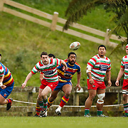 Action during the rugby union game played between Tawa v HOBM, on 9 June 2018, at Lyndhurst Park, Tawa, Wellington, New  Zealand.    HOBM won 30-15.