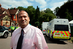 UK ENGLAND HIGH WYCOMBE 15AUG06 - Labour Party member and leader of the Muslim community in Aylesbury, Halil Khelil speaks during an interview in Totteridge, High Wycombe, where Police are investigating an alleged bomb plot...jre/Photo by Jiri Rezac..© Jiri Rezac 2006..Contact: +44 (0) 7050 110 417.Mobile:  +44 (0) 7801 337 683.Office:  +44 (0) 20 8968 9635..Email:   jiri@jirirezac.com.Web:    www.jirirezac.com..© All images Jiri Rezac 2006 - All rights reserved.