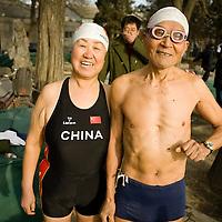 Ice swimming, China