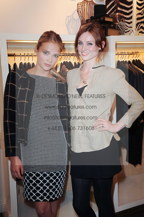 Left to right, FLORRIE ARNOLD and SOPHIE ELLIS-BEXTOR at Juicy Couture, Bruton Street as part of Fashion's Night Out held around London on 8th September 2010.