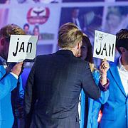 NLD/Hilversum20150825 - Najaarspresentatie NPO 2015, Arjan Lubach met presentatoren Jan