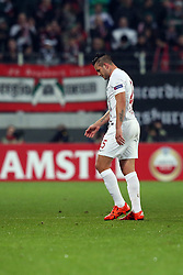 18.02.2016, WWK Arena, Augsburg, GER, UEFA EL, FC Augsburg vs FC Liverpool, Sechzehntelfinale, Hinspiel, im Bild Raul Bobadilla ( FC Augsburg ) muss verletzt vom Platz // during the UEFA Europa League Round of 32, 1st Leg match between FC Augsburg and FC Liverpool at the WWK Arena in Augsburg, Germany on 2016/02/18. EXPA Pictures &copy; 2016, PhotoCredit: EXPA/ Eibner-Pressefoto/ Langer<br /> <br /> *****ATTENTION - OUT of GER*****