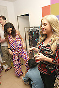 04.JANUARY.2011. LONDON<br /> <br /> **THESE PICTURES ARE EXCLUSIVE**<br /> <br /> AMERICAN PLAYBOY BUNNY KYLA COLLINS WHO RECENTLY DUMPED ASHLEY COLE AND WHO IS REPORTEDLY DATING MARK WRIGHT INDULGED IN SOME RETAIL THERAPY WITH MARKS SISTER JESSICA. THEY VISITED RIVER ISLANDS EXCLUSIVE SUMMER WEAR SHOW INSPIRED BY MARRAKESH. THE GIRLS ENJOYED THE SHOW SO MUCH THEY WENT BACK STAGE TO CHECK OUT SOME OF THE MODELS AND THE COLLECTION. THEY WERE THE LAST GUESTS STANDING, DRINKING BACARDI COCKTAILS. THEY THEN HEADED TO ORA RESTAURANT FOR DINNER.<br /> <br /> BYLINE: EDBIMAGEARCHIVE.COM<br /> <br /> *THIS IMAGE IS STRICTLY FOR UK NEWSPAPERS AND MAGAZINES ONLY*<br /> *FOR WORLD WIDE SALES AND WEB USE PLEASE CONTACT EDBIMAGEARCHIVE - 0208 954 5968*