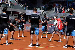 May 9, 2019 - Madrid, Spain - Simona Halep (ROM) in her match against Ashleigh Barty (Australian)during day six of the Mutua Madrid Open at La Caja Magica in Madrid on 9th May, 2019. (Credit Image: © Juan Carlos Lucas/NurPhoto via ZUMA Press)