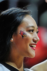 NORMAL, IL - December 16: Redbird Cheerleader during a college women's basketball game between the ISU Redbirds and the Maryville Saints on December 16 2018 at Redbird Arena in Normal, IL. (Photo by Alan Look)