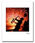 Sax Waikiki 1987 8x10 signed archival pigment print Free shipping USA