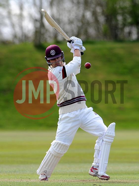 Somerset's James Regan - Photo mandatory by-line: Harry Trump/JMP - Mobile: 07966 386802 - 24/03/15 - SPORT - CRICKET - Pre Season Fixture - Day 2 - Somerset v Glamorgan - Taunton Vale Cricket Club, Somerset, England.