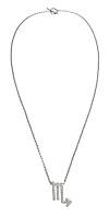 scorpio charm on a silver chain