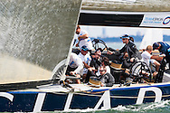 Sir Ben Ainslie and the Origin America's Cup team in action during the 1851 Cup at Cowes Week.