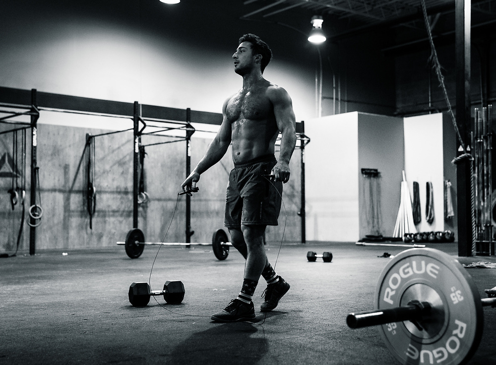 Maxime Roy De Sylva. CrossFit Opens 18.3 at CrossFit ADM gym in Longueuil, QC, Saturday, March 10, 2018. (Photo: Johany Jutras)