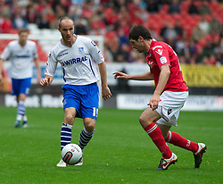 LONDON, ENGLAND - Saturday, October 8, 2011: Tranmere Rovers' David Raven and Charlton Athletic's Dale Stephens during the Football League One match at The Valley. (Pic by Gareth Davies/Propaganda)