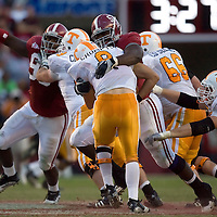 TUSCALOOSA, AL -- October, 24, 2009 -- University of Alabama defensive lineman Marcell Dareus sacks University of Tennessee quarterback Jonathan Crompton during the Crimson Tide's 12-10 victory over the Volunteers at Bryant-Denny Stadium in Tuscaloosa, Ala., Saturday, Oct. 24, 2009.