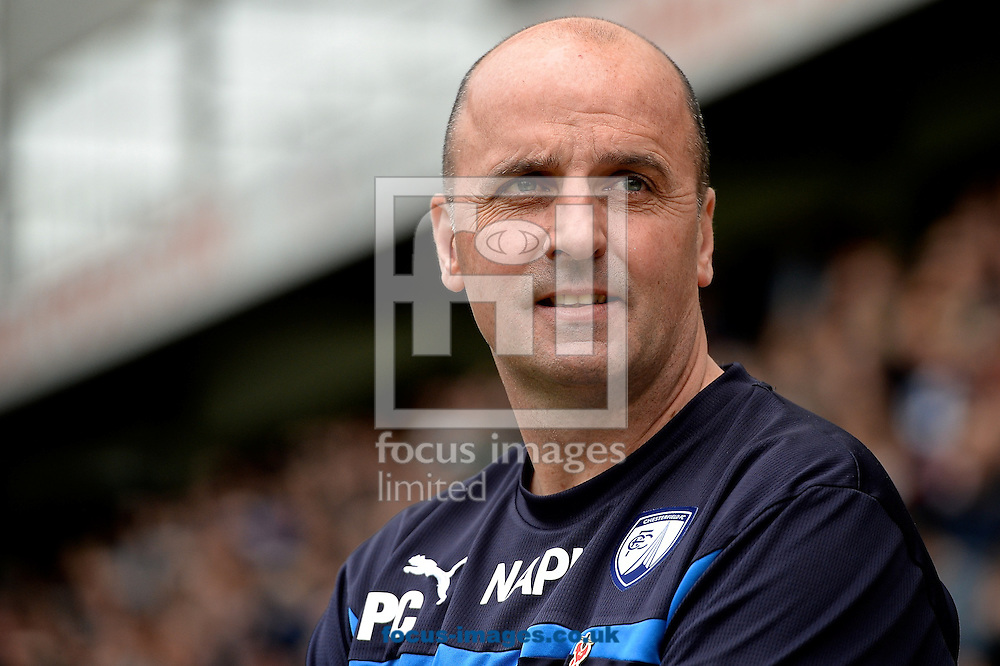 Chesterfield manager Paul Cook pictured ahead of the Sky Bet League 1 playoff match at Deepdale, Preston<br /> Picture by Ian Wadkins/Focus Images Ltd +44 7877 568959<br /> 10/05/2015