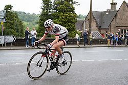 Rozanne Slik hits the foot of the first categorised climb - Stage 4 of the OVO Energy Women's Tour - a 123 km road race, starting and finishing in Chesterfield on June 10, 2017, in Derbyshire, United Kingdom. (Photo by Sean Robinson/Velofocus.com)