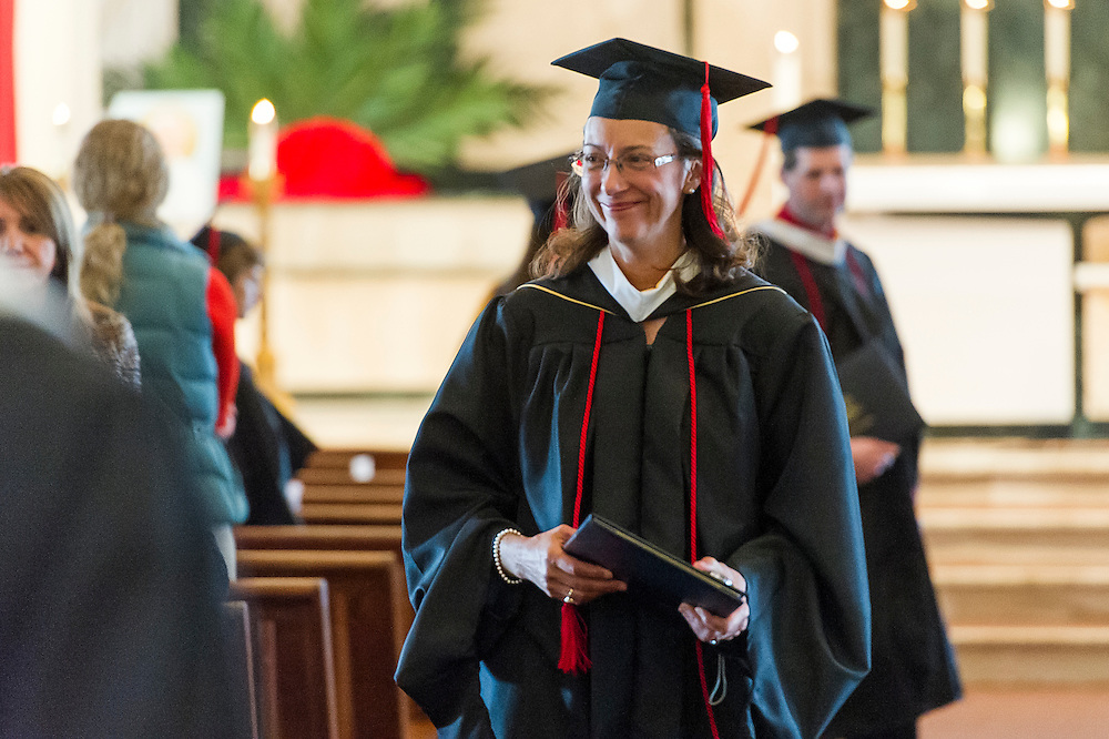CENTENNIAL, CO - APRIL 12: Augustine Institute Graduation Mass and Commencement at St. Thomas More Catholic Church on April 12, 2014 in Centennial, Colorado. (Photo by Daniel Petty/for the Augustine Institute)