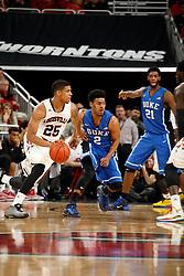 Louisville guard/forward Wayne Blackshear.<br /> <br /> The University of Louisville hosted Duke University, Saturday, Jan. 17, 2015 at The Yum Center in Louisville. <br /> <br /> Duke won the game 63-52.