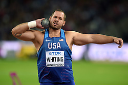 Ryan Whiting of the USA in action - Mandatory byline: Patrick Khachfe/JMP - 07966 386802 - 06/08/2017 - ATHLETICS - London Stadium - London, England - Men's Shot Put Final - IAAF World Championships